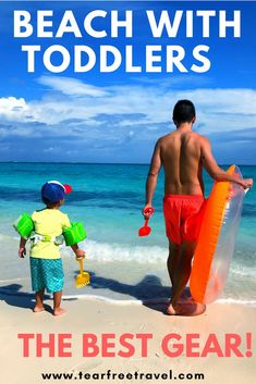 Are you looking for the best beach gear for toddlers? packing smart for a beach vacation with kids is essential. i've compiled a list of beach must-haves Toddler Beach, Toddler Travel, Beach Kids, Travel With Kids, Family Travel, Baby Travel, Beach Gear, Beach Trip, Packing List For Vacation