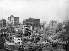Downtown San Francisco after the earthquake of April 18th, 1906