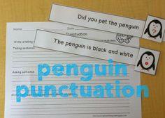 Penguin Literacy Fun- penguin punctuation