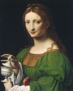 Bernardino Luini -Maria Maddalena,tavola, cm 58.8 × 47.8,  1520 - 1525,  	National Gallery of Art, Washington