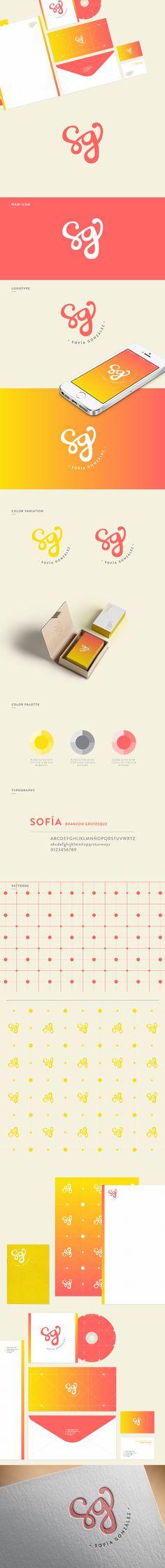 Sofía González | Personal Branding by Ana Sofía González, via Behance