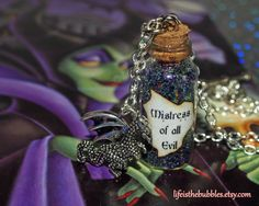 Mistress of All Evil Maleficent Magical Necklace with a Dragon Charm, Disney  Villain,   Life is the Bubbles