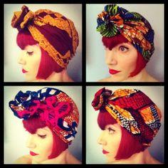 Amber Jane Rosette Ankara Wax Turban by AkhuDesigns on Etsy, £14.50