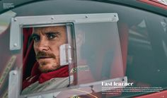charliegrayphotographer: My portrait of Mr Michael Fassbender for The Official @ferrari Magazine behind the wheel of the Ferrari 458 Challenge Evo at the Circuit of the Americas in Austin, Texas. .