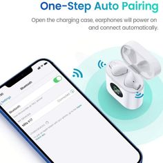 MIFA True Wireless Earbuds, TWS Bluetooth Headphones Stereo Sound Earphones, 30H Playtime Wireless Charging Case & Power Display, Sweat Proof Dual Bluetooth 5.0 Headset with Built-in Mic for Sports Bluetooth Earbuds Wireless, Wireless Charging Pad, Battery Icon, Earphone Case, Sweat Proof, Listening To Music, Battery Indicator, Display, Charger