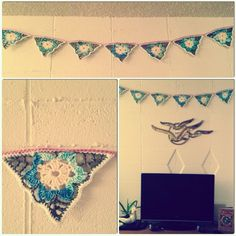 Crochet banner