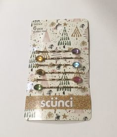 Jeweled Bobby Pins by Scunci Small Gifts, Bobby Pins, Sparkle, Hair Accessories, Shapes, Jewels, Store, Holiday Decor, Products