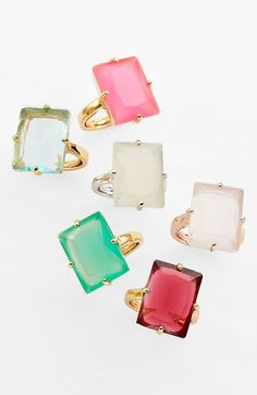 Kate Spade / New York cocktail rings