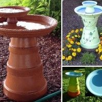Image Via: pinterest , words from willow Do you love keeping bird bath in your garden and watching birds splashing with joy in it? If yes then making a ter