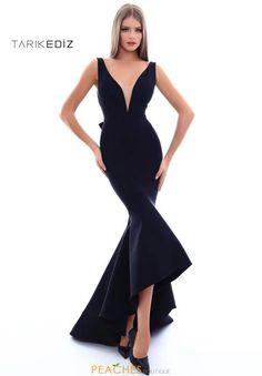 Tarik Ediz V-Neck Fitted Dress 50238