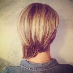 I'm trying to recreate a haircut I saw on a classy French woman. The back looked something like this. It was fun and sophisticated at the same time.