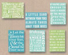 Just In Time For Warmer Weather Are These Cute Little Beach Saying Signs