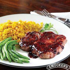 Pork Chops with Raspberry Balsamic Glaze from Smucker's®