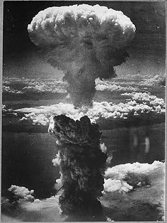 """Nagasaki Mushroom Cloud This is the picture of the """"mushroom cloud"""" showing the enormous quantity of energy. The first atomic bomb was released on August 6 in Hiroshima (Japan) and killed about people. On August 9 another bomb was released above Nagasaki. Hiroshima E Nagasaki, Hiroshima Bombing, Atomic Bomb Hiroshima, First Atomic Bomb, Enola Gay, Mushroom Cloud, Giant Mushroom, Margaret Bourke White, Fukushima"""