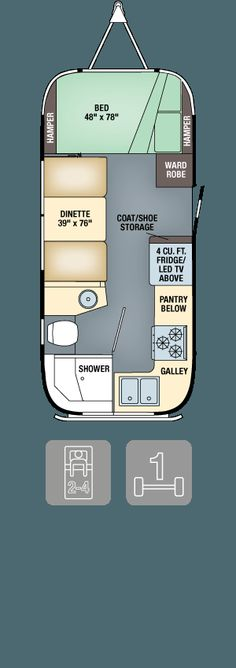 Floor Plans - Flying Cloud 20 - replace dinette with bunk/futon/trundle combo. Use a folding table for meals. Cargo Trailer Camper Conversion, Small Camper Trailers, Diy Camper Trailer, Small Campers, Rv Campers, Camper Van, Motorhome, Fleetwood Travel Trailers, Do It Yourself Camper