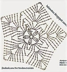 My Own Universe: Crochet Patterns For Geeks - Diy Crafts Filet Crochet, Crochet Afghans, Crochet Diy, Crochet Diagram, Crochet Round, Crochet Granny, Crochet Motif, Crochet Crafts, Crochet Doilies
