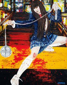 Kill Bill collection Gogo Yubari Actress Chiaki Kuriyama Acrylics 16x20 inches  Credits 2: Jack Liu