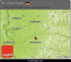 nice Map of Prichsenstadt