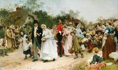 """The village Wedding"" Luke Fildes"