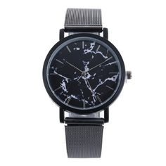 Marble Leather Strap Minimalist Watch – uShopnow store