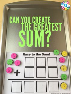 This FREE hands-on multi-digit addition game makes students use higher order thinking skills!