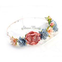 Corona de flores para damas de honor www.leticciamarco.com Malva, Color Rosa, Crown, Wedding, Jewelry, Flowers In Hair, Craft Flowers, Flower Crowns, Bridesmaids