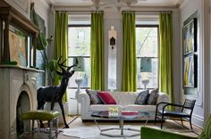 use bold colour curtains in front rooms?