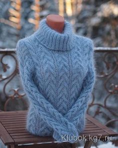 GREY - BLUE SWEATER from Olga