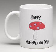 Cute Mushroom mug personalised mug happy mushroom by BeesMugShop