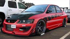 #Mitsubishi_Evo #Volks_Wheels #Slammed #Modified #Stance