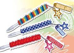 SKIZZO PEN CHRISTIAN. Penna ricoperta da ciuffetti colorati in silicone con ciondolo con nome