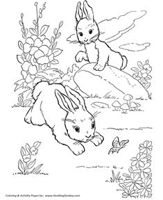 farm animal coloring page free printable wild rabbits play coloring pages featuring hundreds of farm animals coloring page sheets