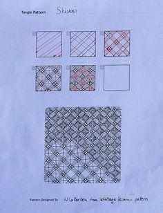 #Zentangle Pattern: Shimono by grannygump