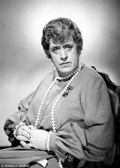 Alastair Sim as Miss Fritton.