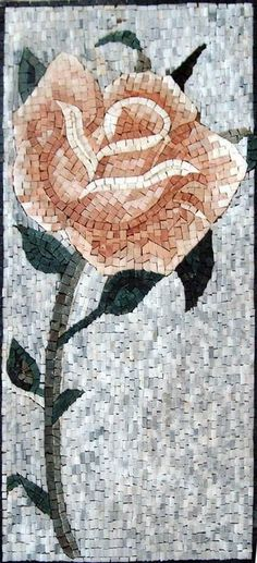 Mosaic Patterns - Rose Flower