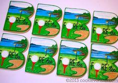 Birthday Golf Cookies (Cookievonster)