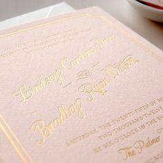 Metallic Gold Foil Letterpress Wedding by DailySipStudios on Etsy, $7.50