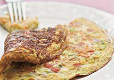 Incremente sua omelete com shiitake, alho-poró e biomassa de banana verde.