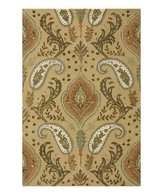 Take a look at this Beige Antalya Wool Rug by Loloi Rugs on #zulily today!