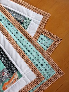 Abstract Crib Quilt Tutorial | Waves, Blankets and Baby quilts : easy quilt binding by machine - Adamdwight.com