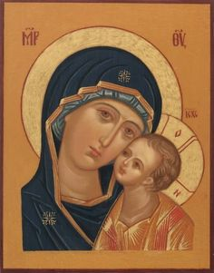 Religious Icons, Religious Art, Mama Mary, Religious Paintings, Byzantine Icons, Holy Mary, Madonna And Child, John The Baptist, Virgo