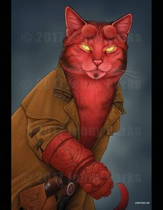 Freelance illustrator specializing in all things natural science and animals. and pop culture characters as cats! Cute Animal Drawings, Animal Sketches, Cute Deadpool, 4x6 Postcard, Creepy Cat, Neko, Cat Character, Cat Memes, Cool Cats