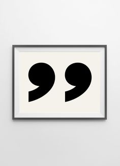 Literature Quote Print  Quotation Marks Wall Art by alphonnsine, $18.00