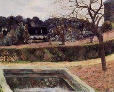 The square pond, 1884, Paul Gauguin Medium: oil on canvas