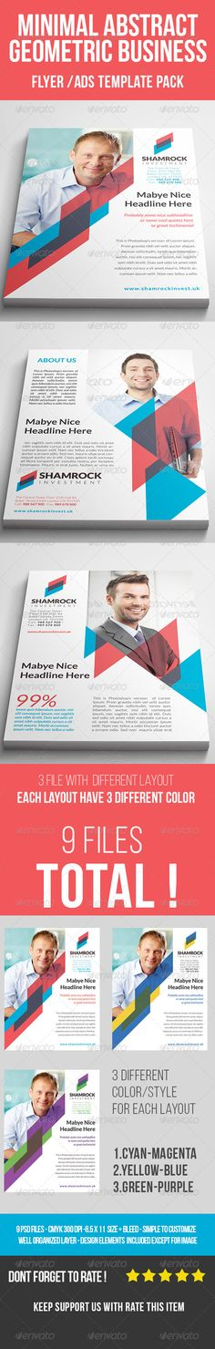 (9 in 1) Abstarct Geometric Business Flyer PSD Template   Buy and Download: http://graphicriver.net/item/9-in-1-abstarct-geometric-business-flyer/8542988?WT.ac=category_thumb&WT.z_author=verdictgraphic&ref=ksioks