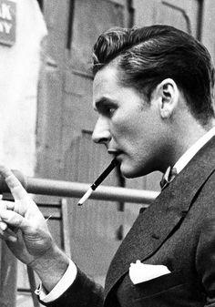 The hair, the suit, the style, the Look & SWAGGER!!! Errol Flynn - vintage men's hair- 1930s men's hair