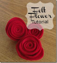 Felt Flowers--These would be fun to add to scarves or other handmade items, or to the package. So easy!
