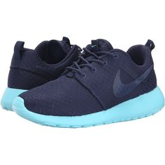 Nike Roshe Run Women's Shoes, Blue ($60) ❤ liked on Polyvore featuring shoes, athletic shoes, blue, traction shoes, blue shoes, nike footwear, laced shoes and light weight shoes