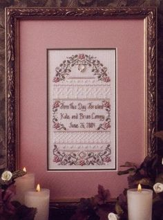 I've been looking for a long time for a wedding sampler to do for my own wedding date and I think this might be it!