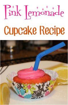 Pink Lemonade Cupcake Recipe! ~ such a fun party treat! #cupcakes #recipes